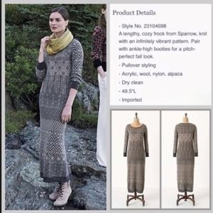 Anthro Sparrow multiburst print maxi sweater dress